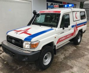 Armoured Toyota LandCruiser Ambulance